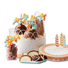 Birthday Cake Caramel Apple Gift Set