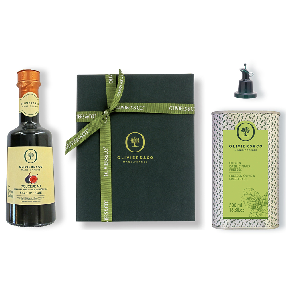 Oliviers and Co Duo Basil Olive Oil & Fig Balsamic