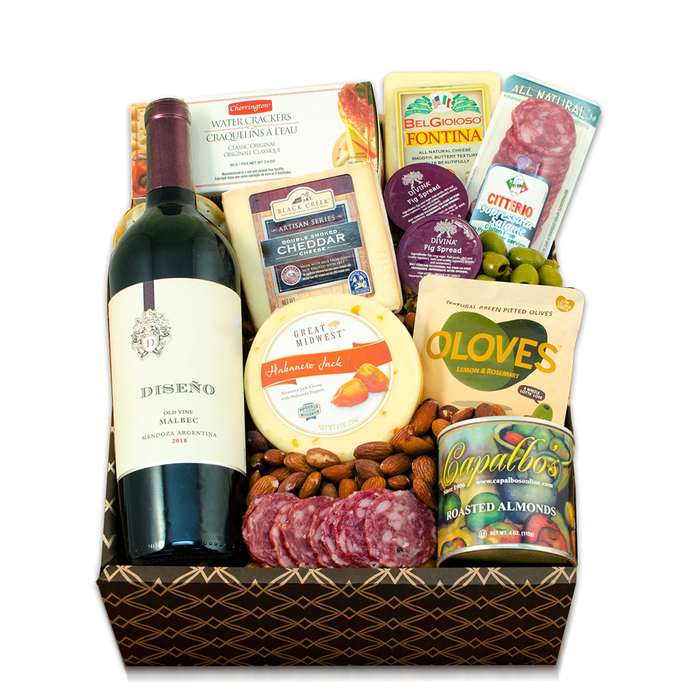 Red Wine, Cheese & Crackers Classic Collection Gift Box