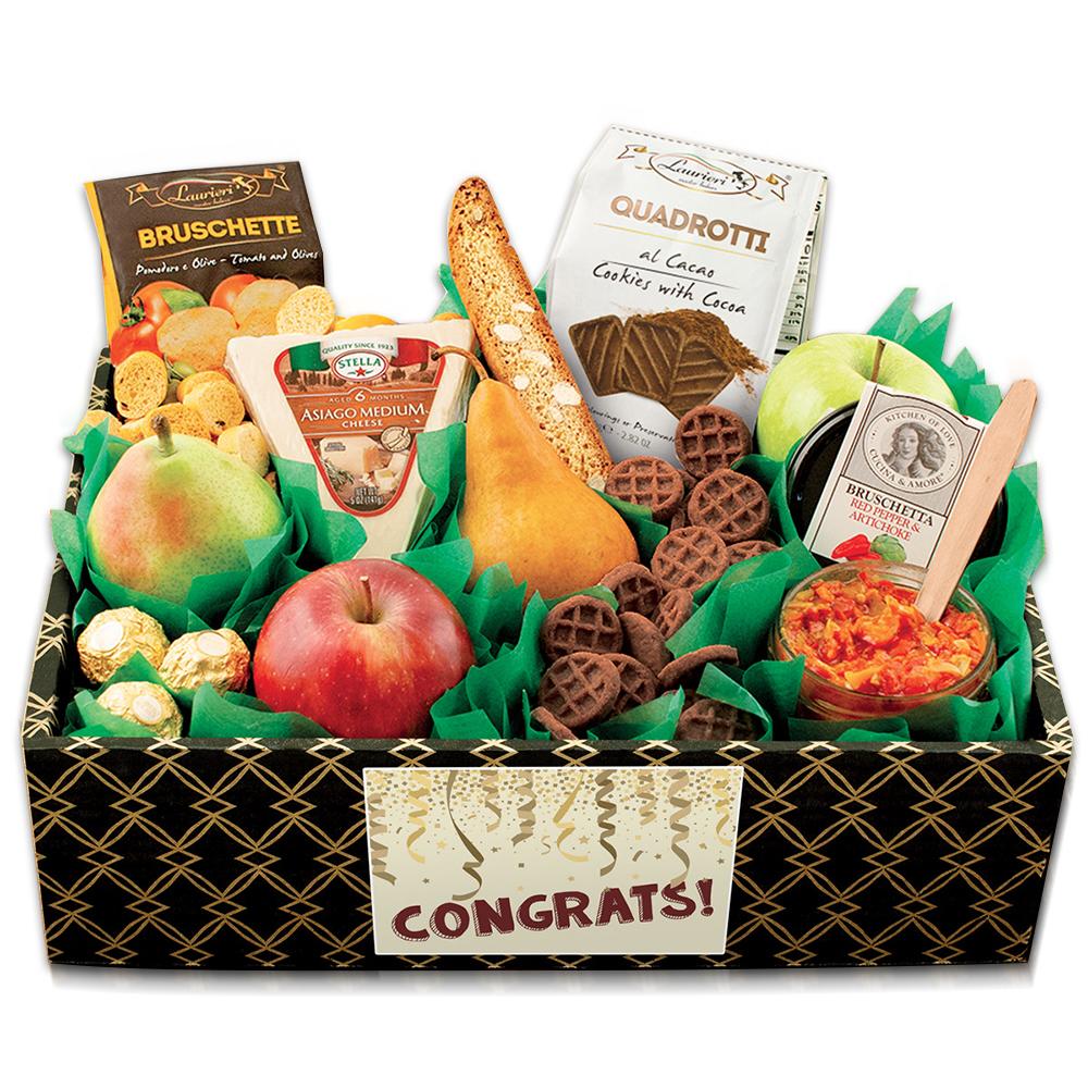Italian Pride Of The Farm Fruit Gift Box - Congratulations
