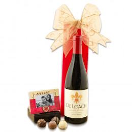Taste Of Romance Sparkling Wine & Truffles Gift Basket