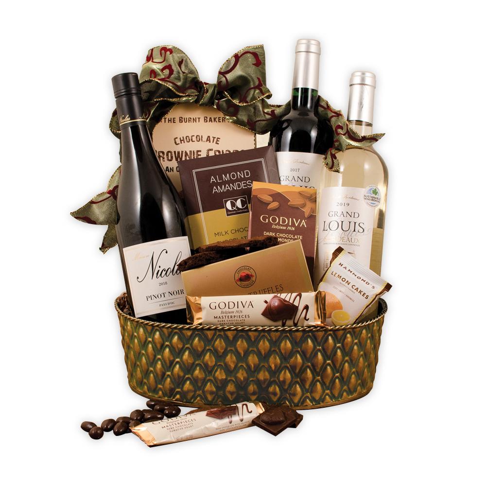 French Trio Wine Gift Basket