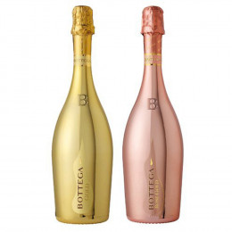 Duo Of Bottega Prosecco Gold & Rose Gift Set 750ml
