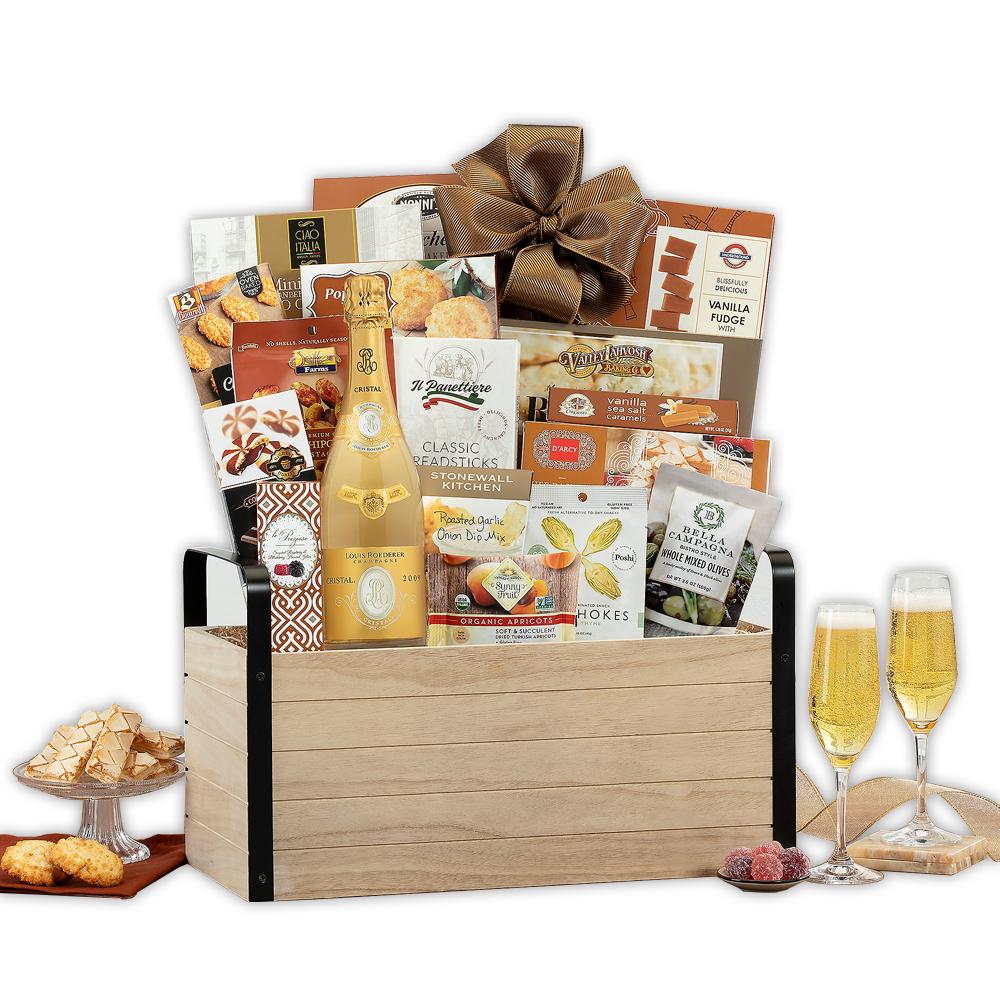 Louis Roederer Cristal Champagne Gift Basket