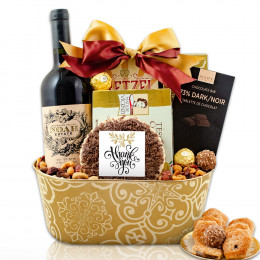 Much Appreciated Red Wine Gift Basket
