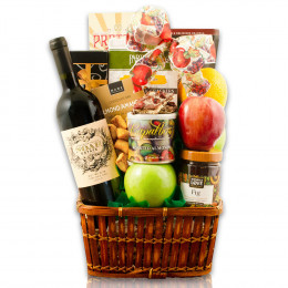 Sea Of Galilee Fruit & Red Wine Kosher Gift Basket