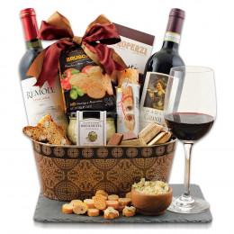 Taste Of Tuscany Italian Wine Gift Basket