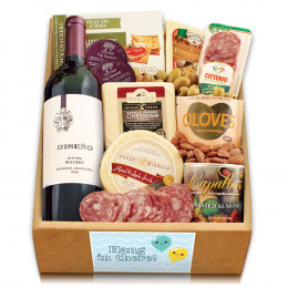 Red Wine, Cheese & Crackers Classic Collection Gift Box - Hang In There