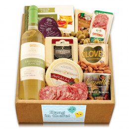 White Wine, Cheese & Crackers Classic Collection Gift Box - Hang In There
