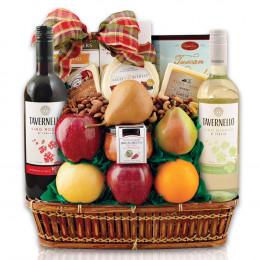 In Good Taste Wine, Cheese & Fruit Gift Basket