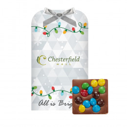 Gourmet Belgian Chocolate Bar Mini with Your Choice of Topping