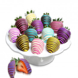 Spring Colors Chocolate Covered Strawberries