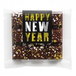 Custom Holiday Splatter Chocolate Bar