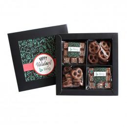 Custom Holiday 8-Piece Chocolate and Pretzel Set