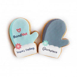 Custom Holiday Mitten Cookies