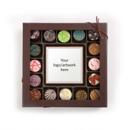 Custom Chocolate Truffle Assortment and Card - 17 Piece