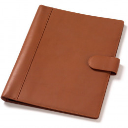 Custom Soft Sided Leather Snap Padfolio