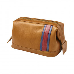 Custom Racer Leather Toiletry Case
