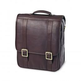 Custom Leather Upright Porthole Briefcase Backpack