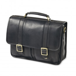 Custom Classic Leather Flap Briefcase