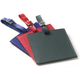 Custom Color Square Leather Luggage Tag