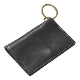 Custom Executive Leather ID Wallet Keychain
