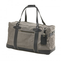 Waxed Canvas Weekender with Leather Tag (Optional Engraving)