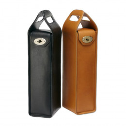 Leather Turnlock Bottle Carrier