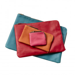 Custom Sonoma Leather Medium Tech Pouch