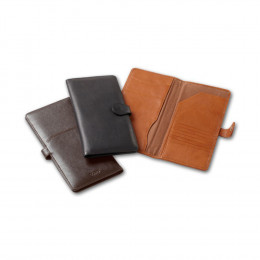Tuscan Leather Snap Travel Wallet (Optional Engraving)