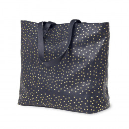 Leather Star-Print Tote Bag