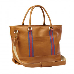 Custom Racer Leather Travel Tote Bag