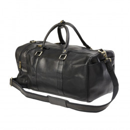 Custom Leather Side Pocket Duffel Bag