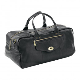 Custom Leather Aviator Turnlock Duffel Bag