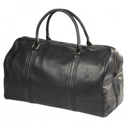 Custom Leather XL Round Roadster Duffel Bag