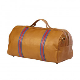 Custom Leather Round Racer Duffel Bag