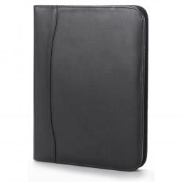 Custom Quinley Leather Zip Padfolio