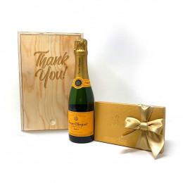 Veuve Clicquot Champagne 375ml & Godiva Gift Set