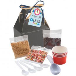 Custom Do-It-Yourself Ice Cream Kit in Gable Box