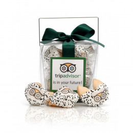 Custom Fortune Cookies - 6pc. Clear Take-out Pail with Theme Message