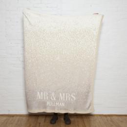 Personalized ''Mr. & Mrs.'' Glitter Confetti Eco Throw