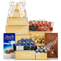 Deluxe Lindt Chocolate Gift Tower