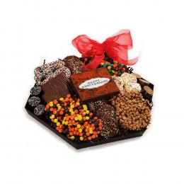 Chocolate Anniversary Hexagon Platter
