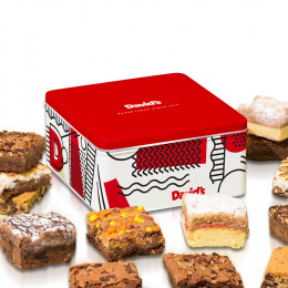 David's Cookies Brownie and Crumb Cake Cake Tin