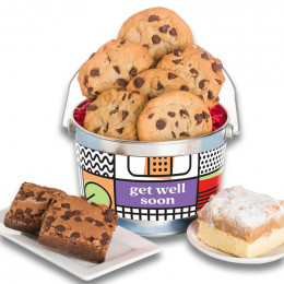 Get Well Soon Bucket Chocolate Chip Cookie and Brownie Sampler