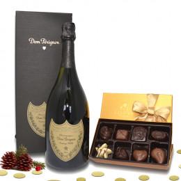 Dom Perignon Brut 2010 & Godiva Chocolate Gift Set Complementary Elegant Packaging