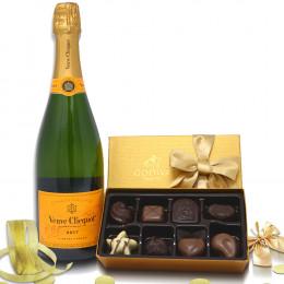 Veuve Clicquot Brut & Godiva Chocolate Truffle Gift Set