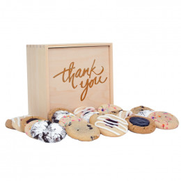 Thank You Medium Deluxe Wood Cookie Gift Box