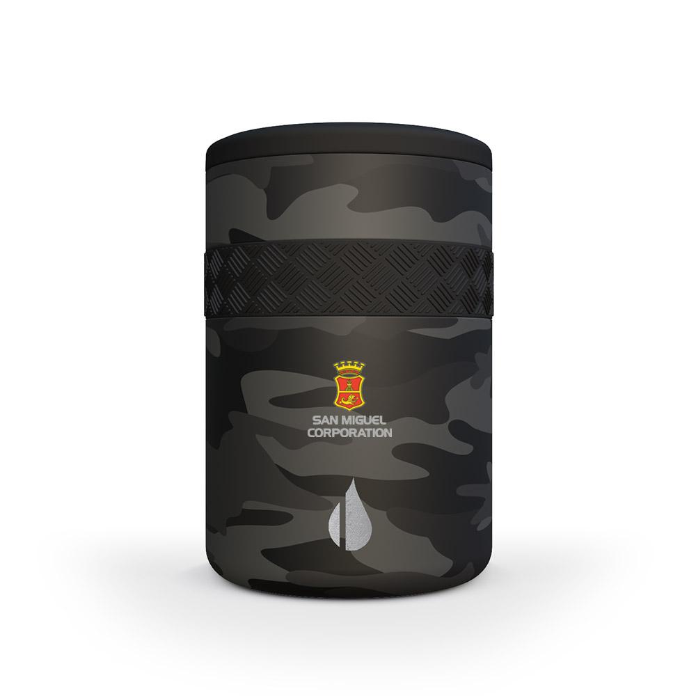 Elemental 12oz Recess Regular Can Cooler - Full-Color Imprint