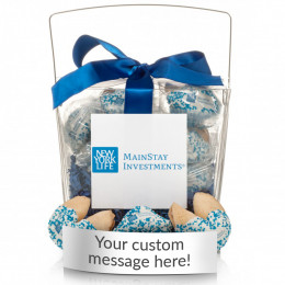 Custom Fortune Cookies - 12pc. Clear Take-out Pail with Custom Message